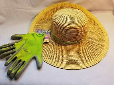MidWest Quality Gloves, Inc. Straw Hat with Glove- Green #B13