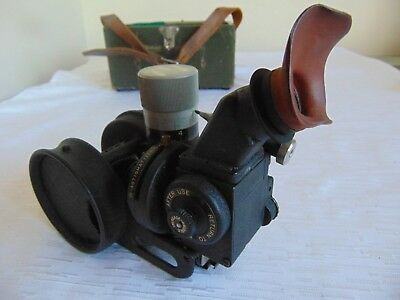 WW II US ARMY AIR CORPS Aircraft Sextant A-5 or A-7   W/ WOODEN BOX
