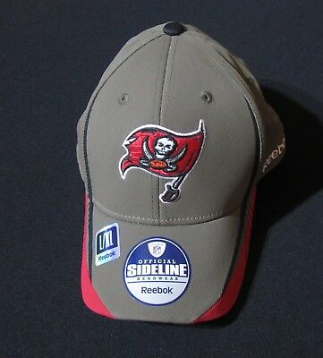a9f0104f J THROWBACK Tampa Bay Bucs Reebok Cap NFL Fitted Sideline Hat Mens ...