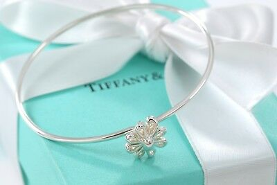 1aced9200 Tiffany & Co. Paloma Picasso Sterling Silver Daisy Flower Hook Bangle  Bracelet
