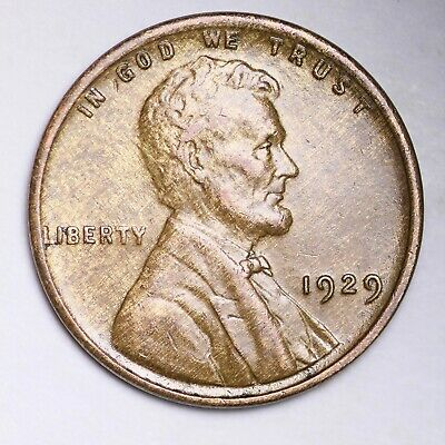 UNCIRCULATED 1929 Lincoln Wheat Cent Penny FREE SHIPPING