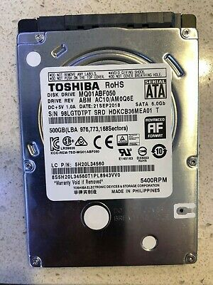 "Toshiba 500 GB Internal 5400 RPM 2.5"" Hard Drive - MQ01ABF050H"