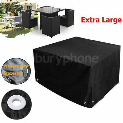 Heavy Duty Waterproof Rattan Cube Garden Furniture Dust UV Rain Cover Outdoor