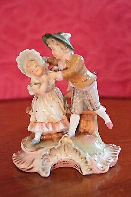 Antique German 'Sitzendorf' Porcelain Group Figurine, 19th Century