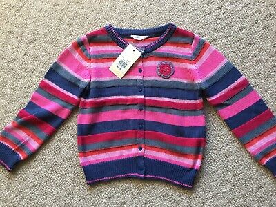Girls Jack & Milly brand Size 8 Colourful Cotton Knit Cardigan BNWT