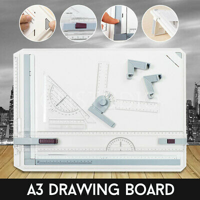 Portable Drafting A3 Drawing Board Table With Parallel Motion & Adjustable Angle
