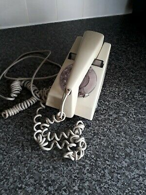 Vintage 1970s Trimphone Two Tone Cream Rotary Telephone Great Condition.