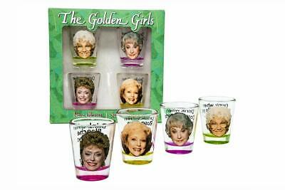 Golden Girls Shot Glasses | Fun Drinking Games | Set of 4 Collectible Glasses |
