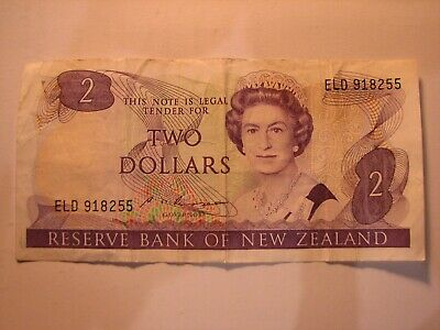 New Zealand Dollar $2 banknote S T Russell - 1985 - 89