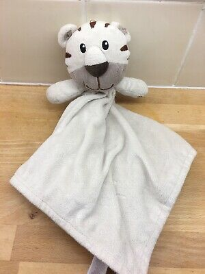 Primark Early Days Beige Tiger Comforter Soother Blankie Snuggle Lion