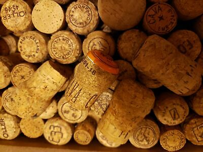 Lot of 150+ Champagne Corks Mixed Manufacturers & Vineyards No Synthetic Crafts