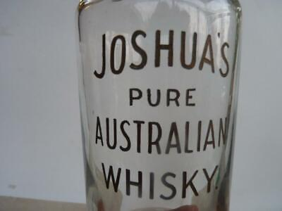 Original  Glass Whisky Decanter - Joshua's Pure Australian Whisky - Excell Cond