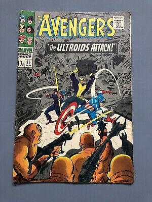 The Avengers # 36 The Ultroids Attack - Marvel Comics - 1967