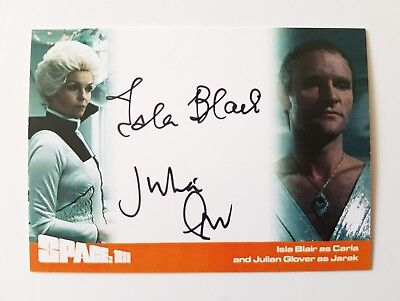 Unstoppable Cards Space 1999 Series 2 Isla Blair & Julian Glover Autograph Card