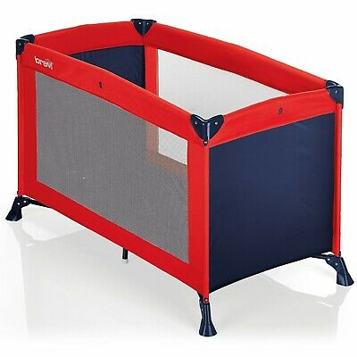 Cot Camping Brevi Travel B Red Blue