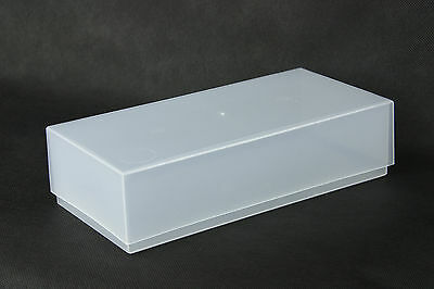 Clear Plastic Compliment Slip Box 210mm x 102mm x 55mm 5-200 Boxes