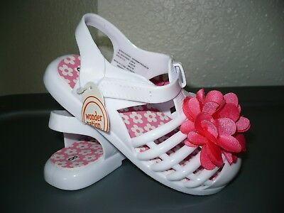 86b3efe7b GIRLS TODDLER SANDALS White Jelly Sandals Size 9_10 Sparkly - $10.99 ...
