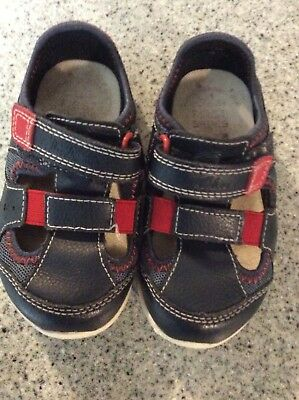 7415f48c461f CLARKS FIRST SHOES Toddler Tiny Sun Leather Sandals Size US 3.5 NIB ...