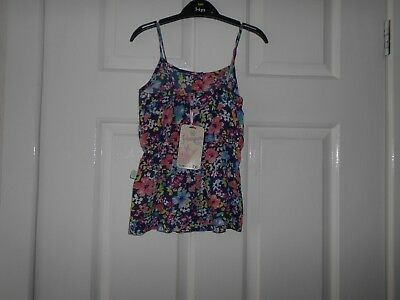 BNWT, Harper Girl, Blue flral strappy play suit, age 12-18months