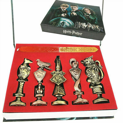 New Harry Potter Hogwarts School Badge Vintage Wax Seal Stamp Set Collection Gif