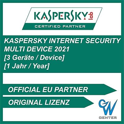 Kaspersky internet security 2019 [3 PC , GERÄTE 1 JAHR Multi Device Vollversion