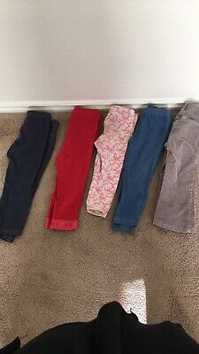 120378c5418659 Lot of 2 Old Navy Toddler Girl Fleece Legging pants - Pink and White, Size