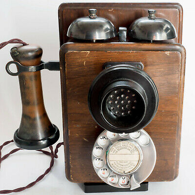 GPO Wooden Wall Telephone 121, Rebuilt, Converted and Working.