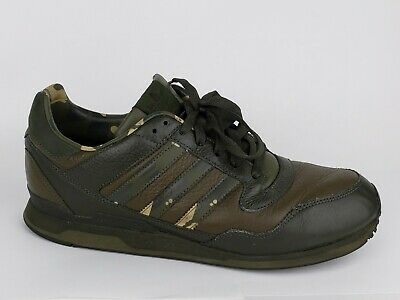 3e8ab03ef Adidas ZX ZL EA Army Green Camo Leather Sneakers Shoes Men Size 10.5