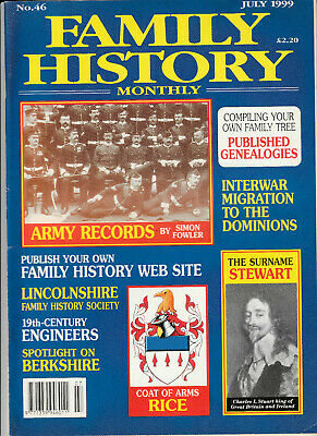FAMILY HISTORY MONTHLY Magazine July 1999 - Army Records