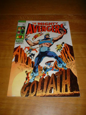 AVENGERS 63 VFN- COND. APR 1969. MARVEL. PENCE COPY. 1st GOLIATH