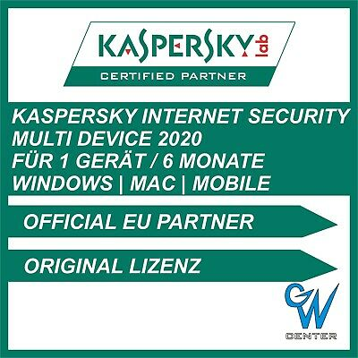 Kaspersky internet security 2019 [1 PC , GERÄT 6 MONATE Multi Device Vollversion