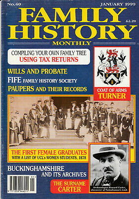 FAMILY HISTORY MONTHLY Magazine January 1999 - Using Tax Returns