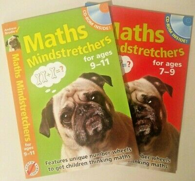 Maths Mindstretchers for ages 9-11 and for ages 7-9 by Andrew Brodie TWO BOOKS