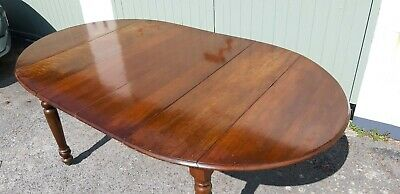 Antique walnut extending dining table