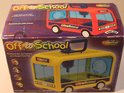 Hamster Off To School Bus The Playtime Bus that doubles as a Carrying Case!