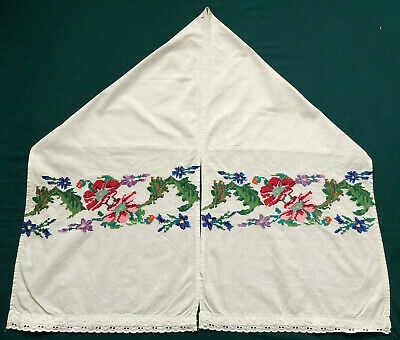 Vintage Embroidered Ukrainian folk towel rushnik handmade №1010