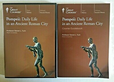 Great Courses Pompeii Daily Life in an Ancient Roman City – 4 DVD & Guidebook