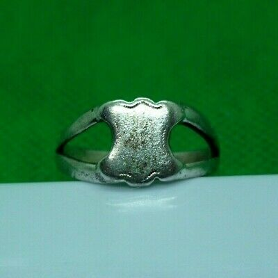GENUINE MEDIEVAL DECORATED SILVER RING - COMPLETE! - 18,5 mm inner diameter