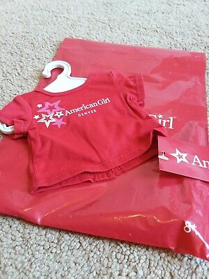 """NWT AMERICAN GIRL DENVER RED FOIL STAR TEE T SHIRT TOP FOR 18/"""" BLAIRE DOLLS NIP"""