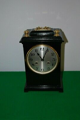 Vintage Black Scratch Built Mantle Clock.