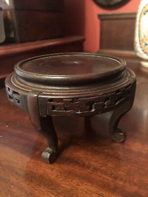 Antique Oriental Solid Wood Stand