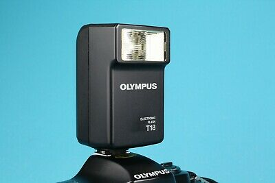 Olympus T18 Electronic Camera Flash For OM System Film Cameras