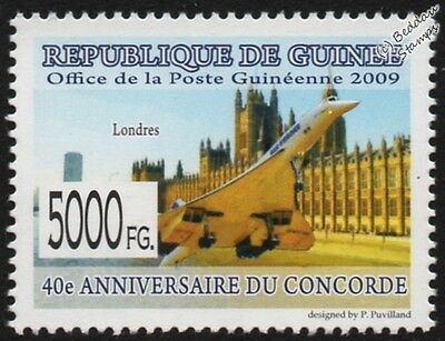 Air France CONCORDE (London) Supersonic Airliner Aircraft Stamp #2 (2009 Guinea)