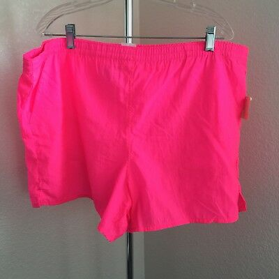 1e277306d5cf7f Vintage 80s/90s Mens neon Pink Nylon shorts swim trunks New with Tag Size XL