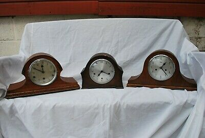 Three Art Deco Mantle Clocks