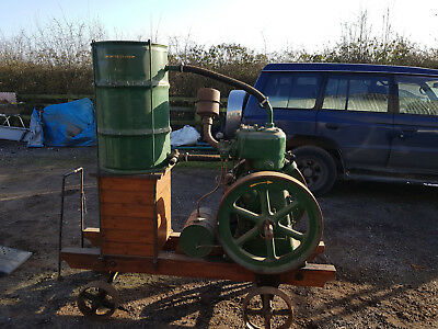 Lister L type tank cooled 4 hp on original Lister trolley with flick magneto