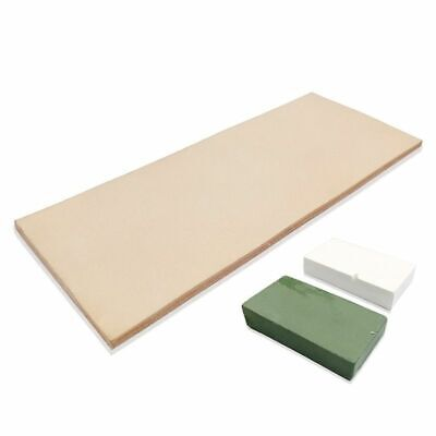 Leather Honing 3x8 Inch Strop With 2oz Green White Sharpening Polishing Compound