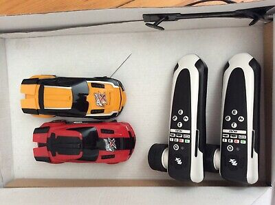 Boxed Real Fx Slotless Racing 1:32 Scale 2 Race Cars Track Handsets