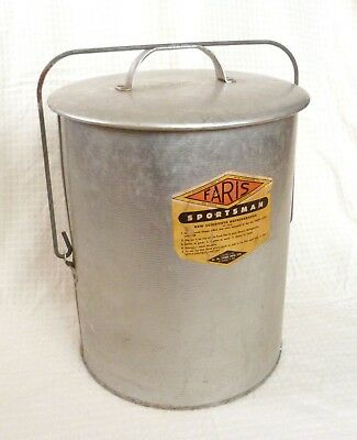 Rare Vtg 1940s FARIS SPORTSMAN New Scientific Refrigerator Early Cooler 13x18