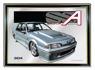 Metal Mirror Artwork A4 Suit Holden Vl Group A --Enthusiasts Or Gift For Mancave